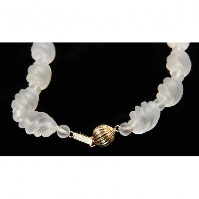 Carved Rock Crystal Necklace