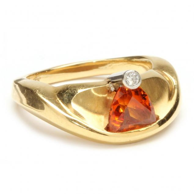 Spessartite Garnet Ring
