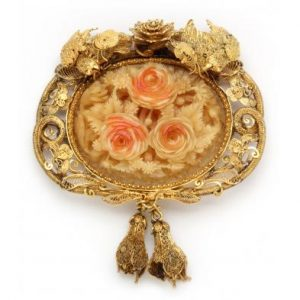 Antique bone brooch
