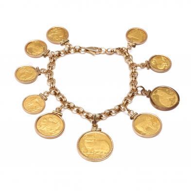 Cat Coin Bracelet