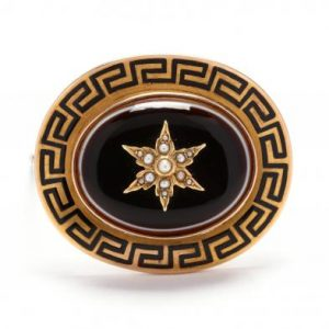 Victorian Agate Brooch