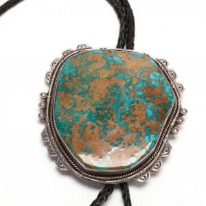 Silver and Turquoise Bolo