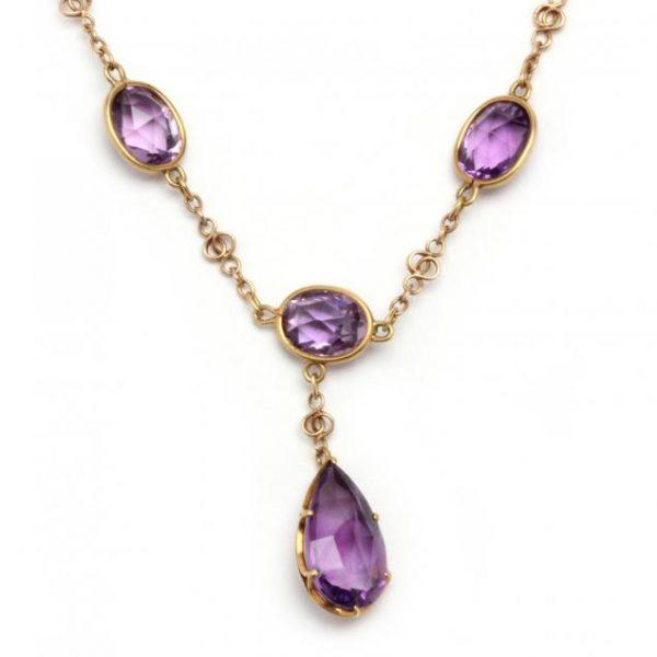 Amethyst Victorian Necklace