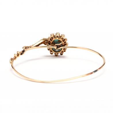 old, Diamond, and Turquoise Snake Bracelet