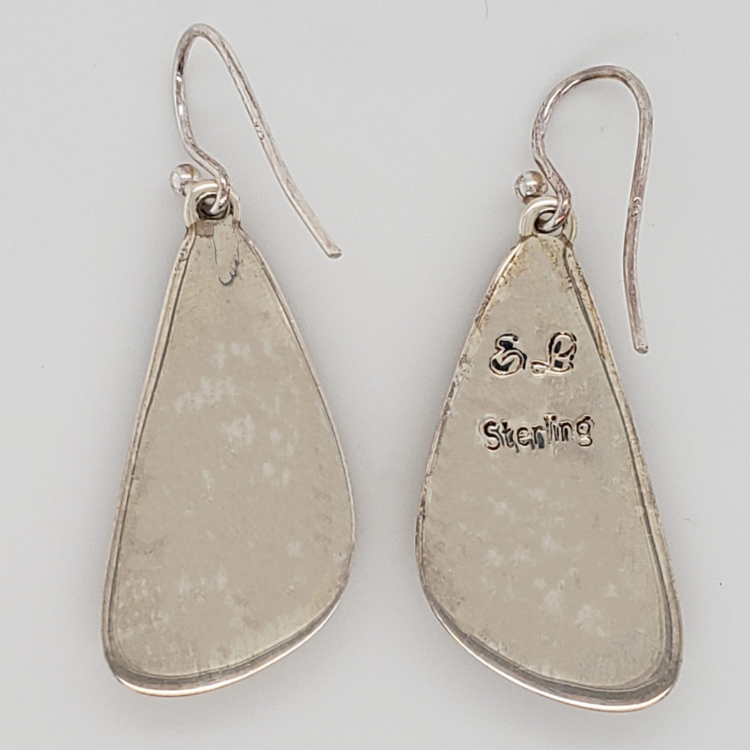 Chalcedony and Opal Earrings