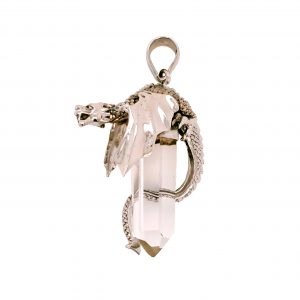 Crystal Point Dragon Pendant