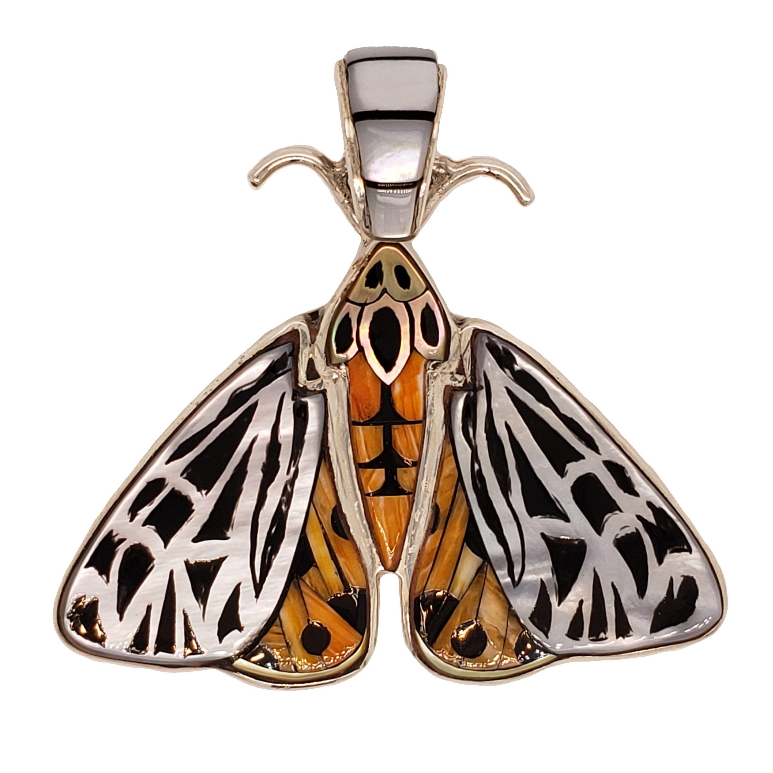 Moth Inlay Pendant