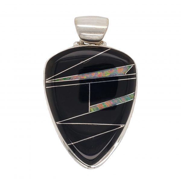 Onyx and Opal Pendant