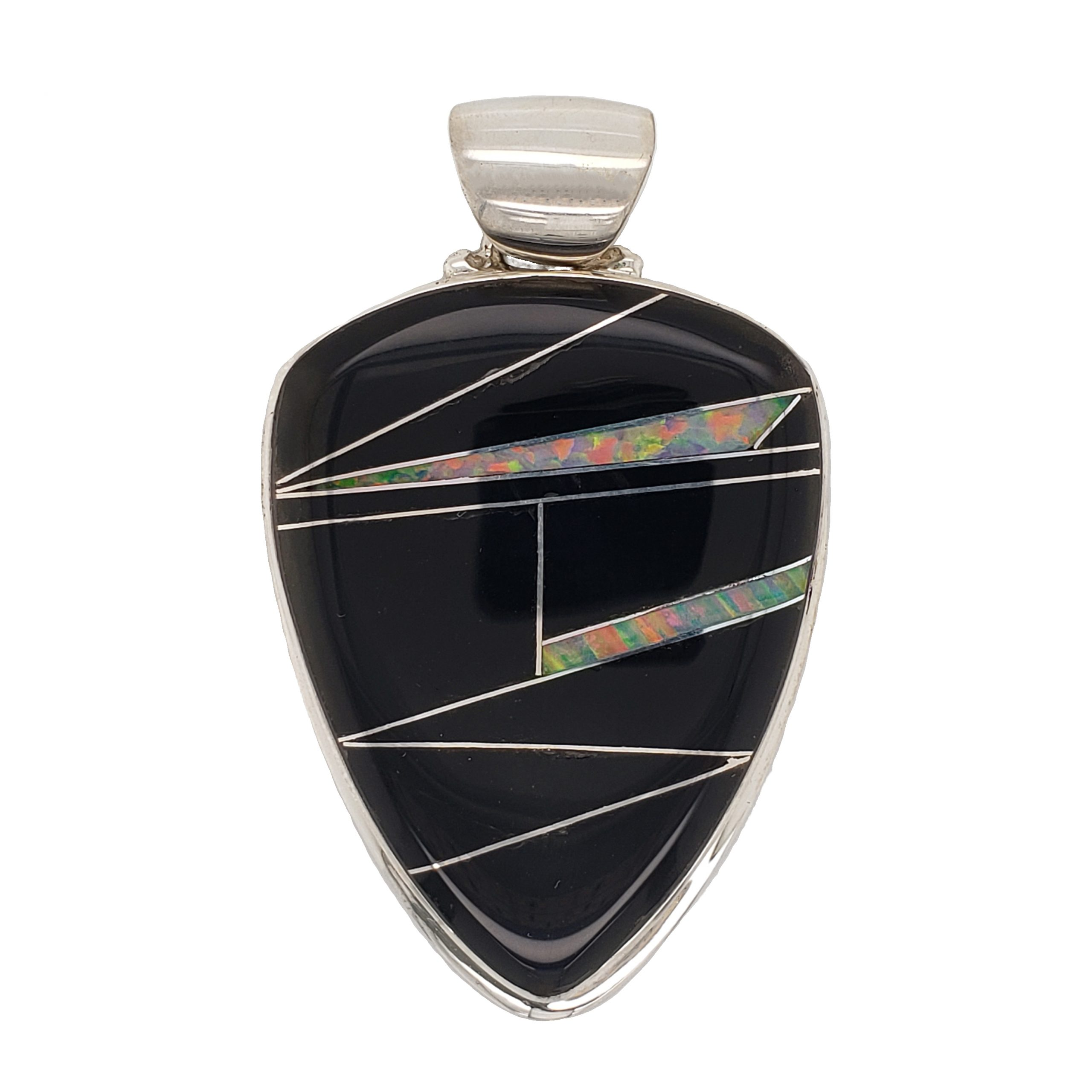 Onyx and Opal Pendant