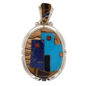 Turquoise and Lapis Pendant