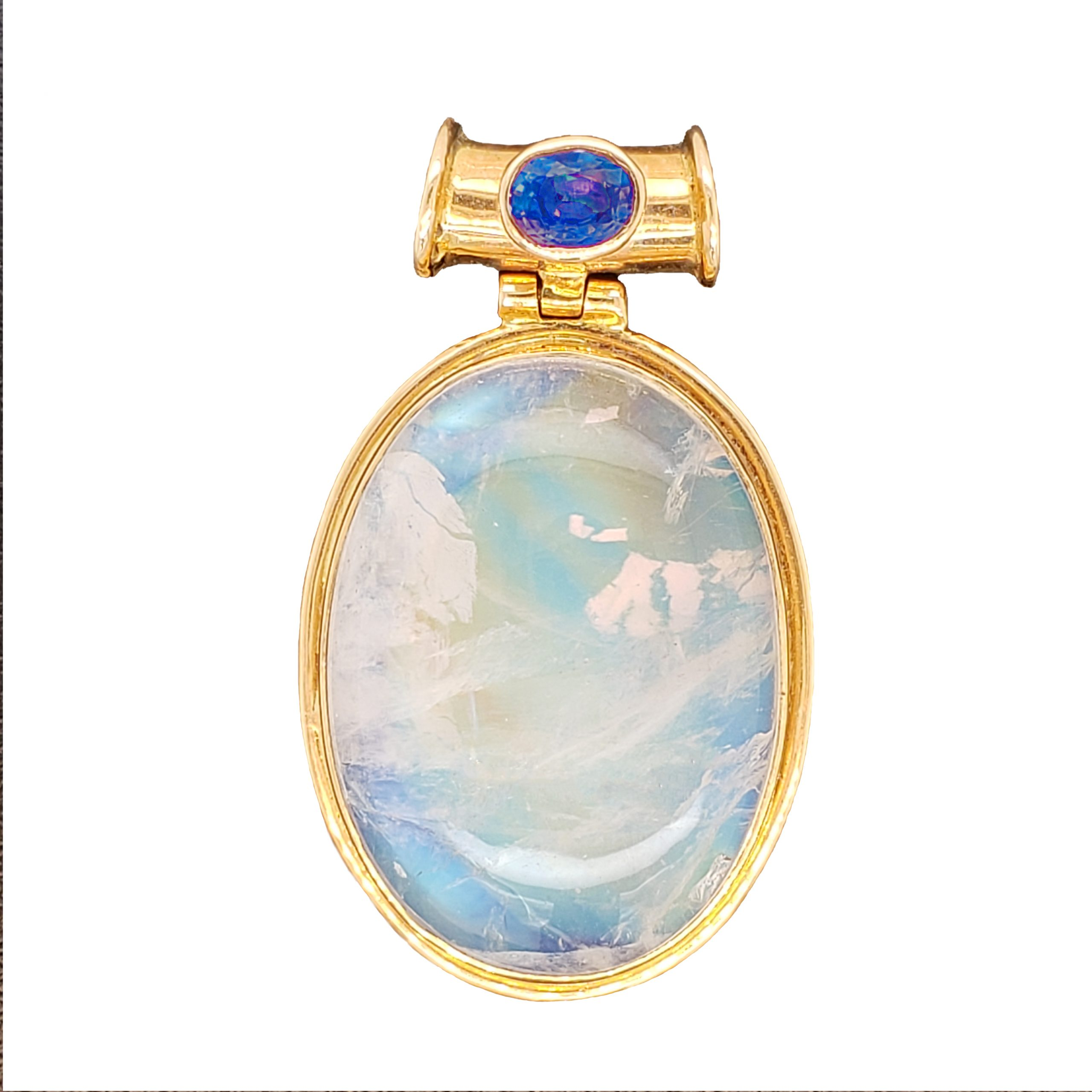Moonstone and Sapphire Pendant