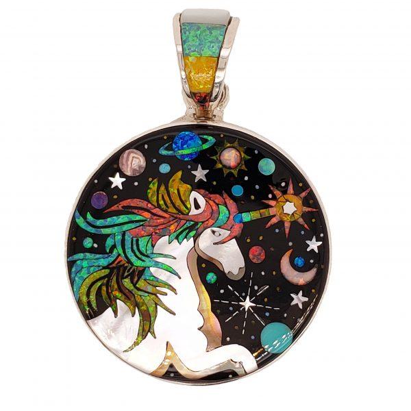 Sterling Unicorn Pendant