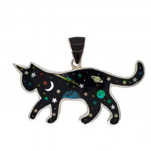 Cat Inlay Pendant