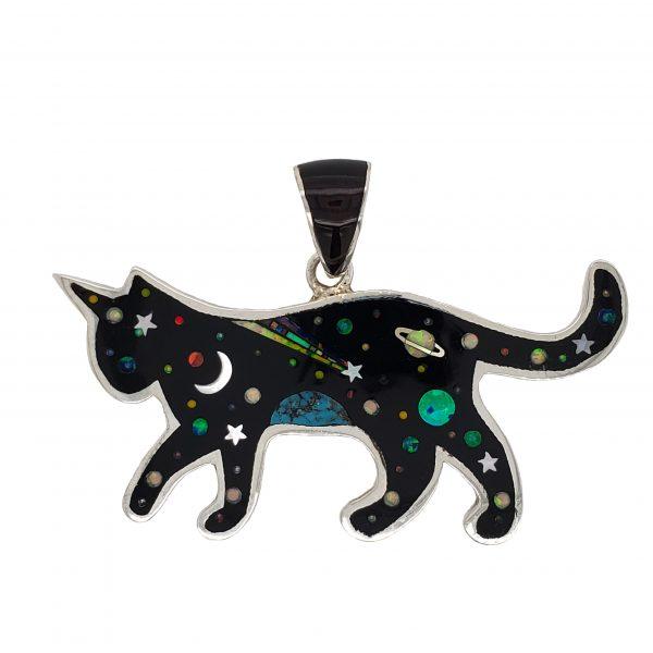 Cat Inlay Pendant