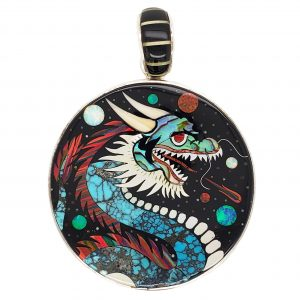 Dragon Inlay Pendant