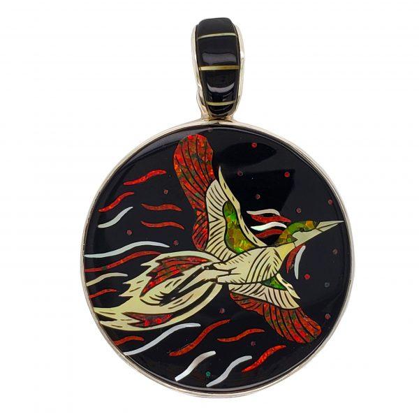 Phoenix Inlay Pendant
