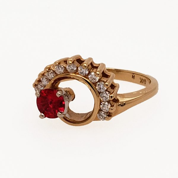 .43 ct. Ruby and Diamond 14k Ring