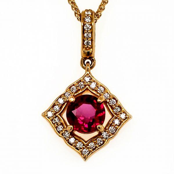 .76 ct. Ruby and Diamond 18k Pendant