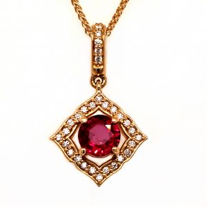.76 ct. Ruby and Diamond 18k Pendant