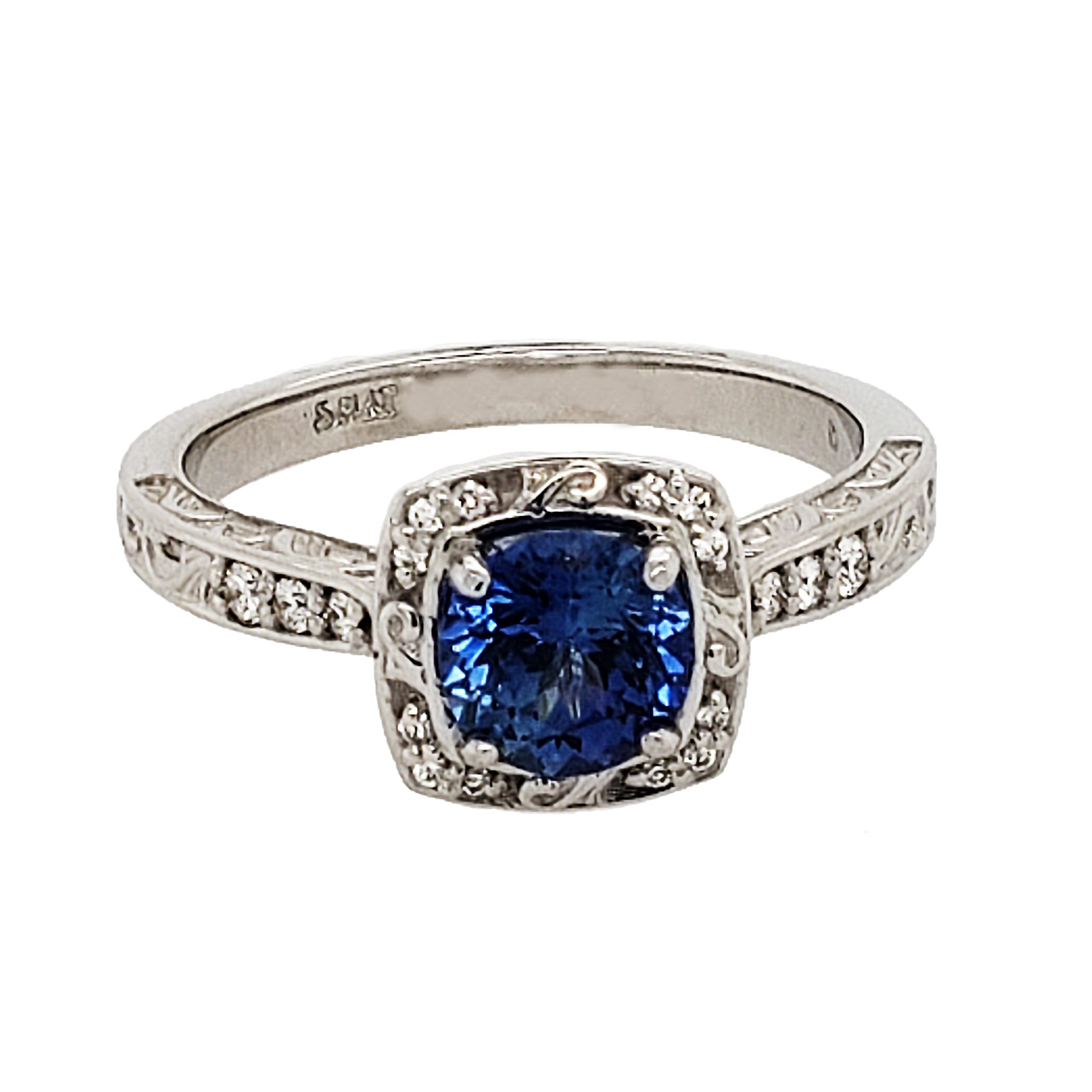 Sapphire Platinum Ring