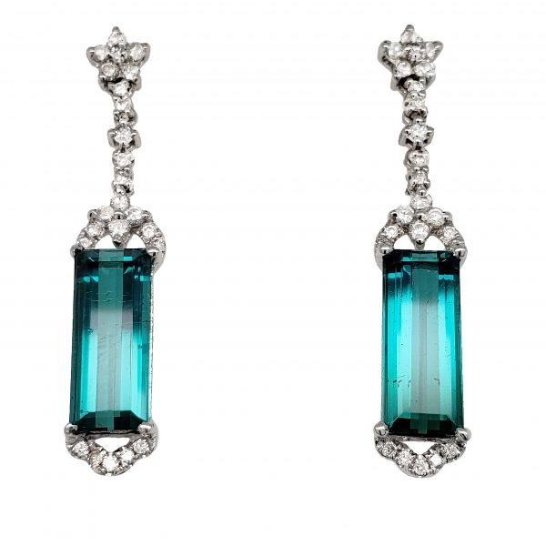 Indicolite Tourmaline Earrings