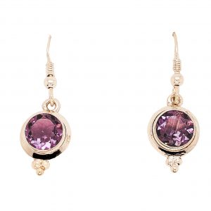 Lavendar Amethyst Earrings