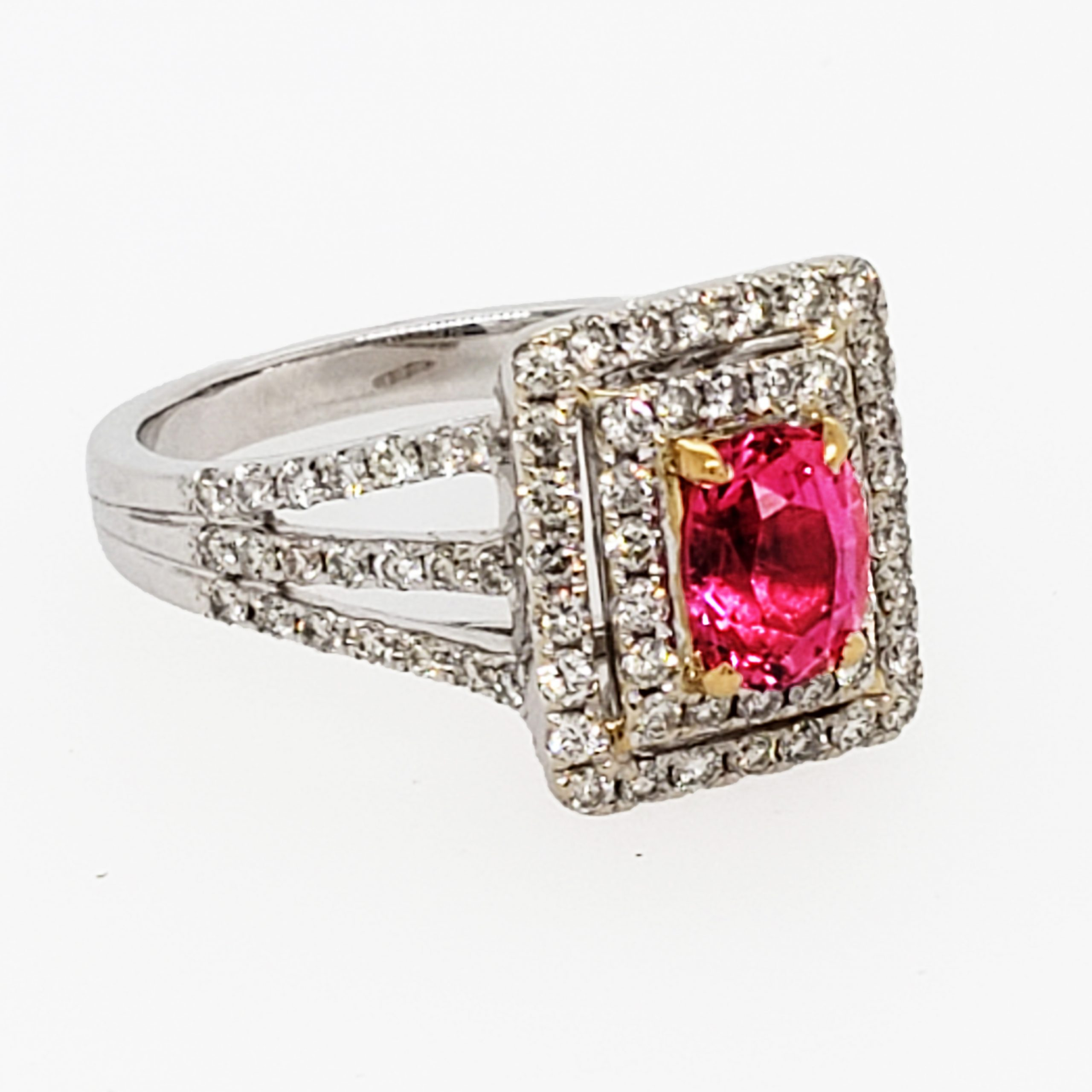 .95 ct. Pink Ruby 18k wg Ring