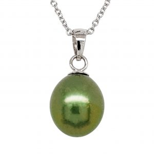 Pistachio Pearl Necklace