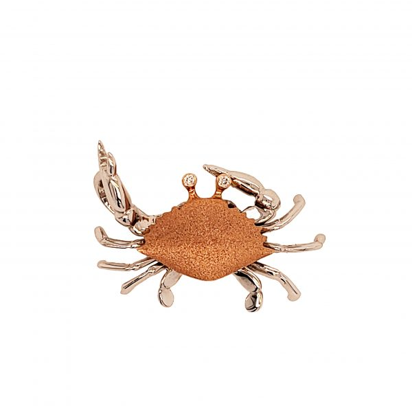Denny Wong Rose Gold Crab Pendant