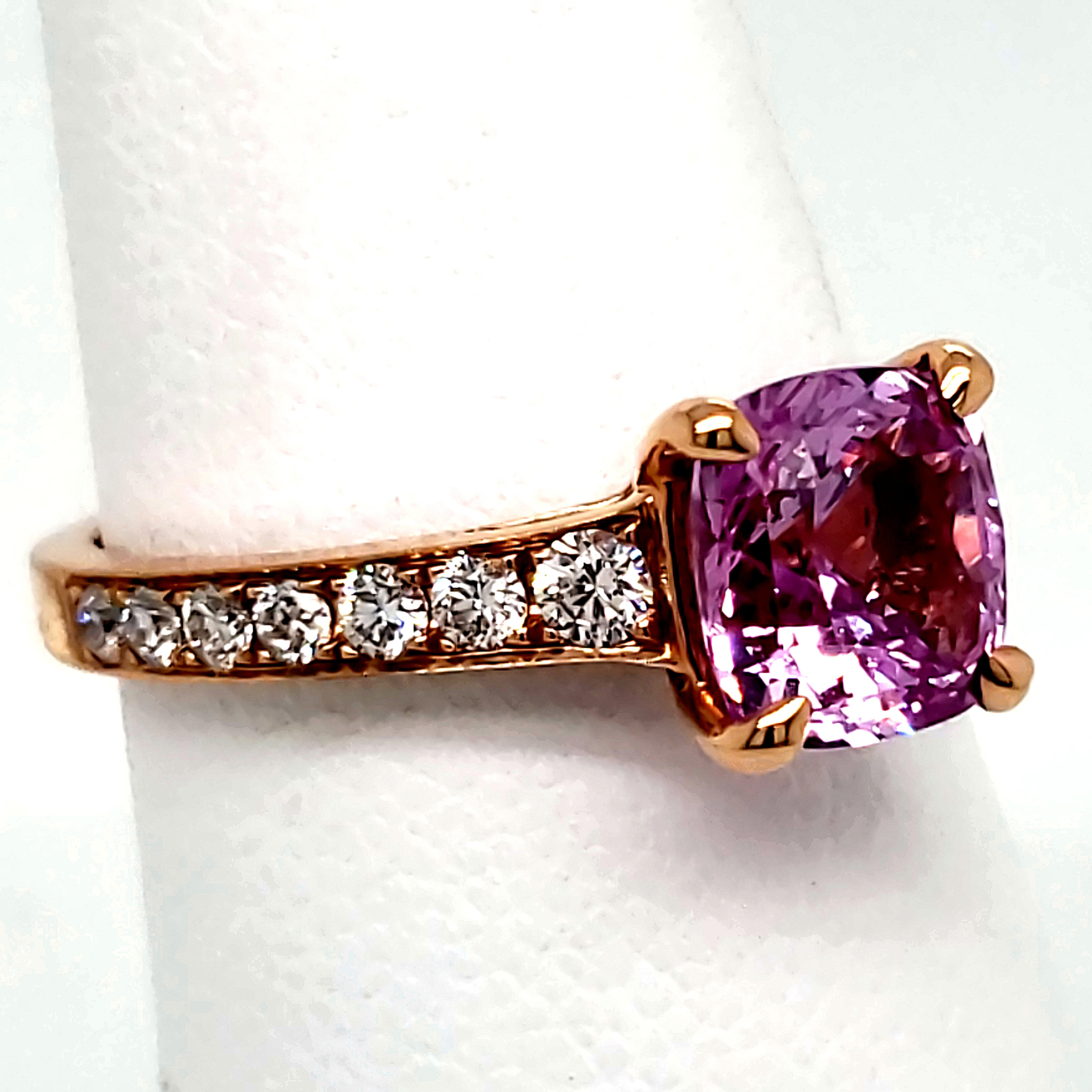 2.13 ct. Pink Sapphire Ring