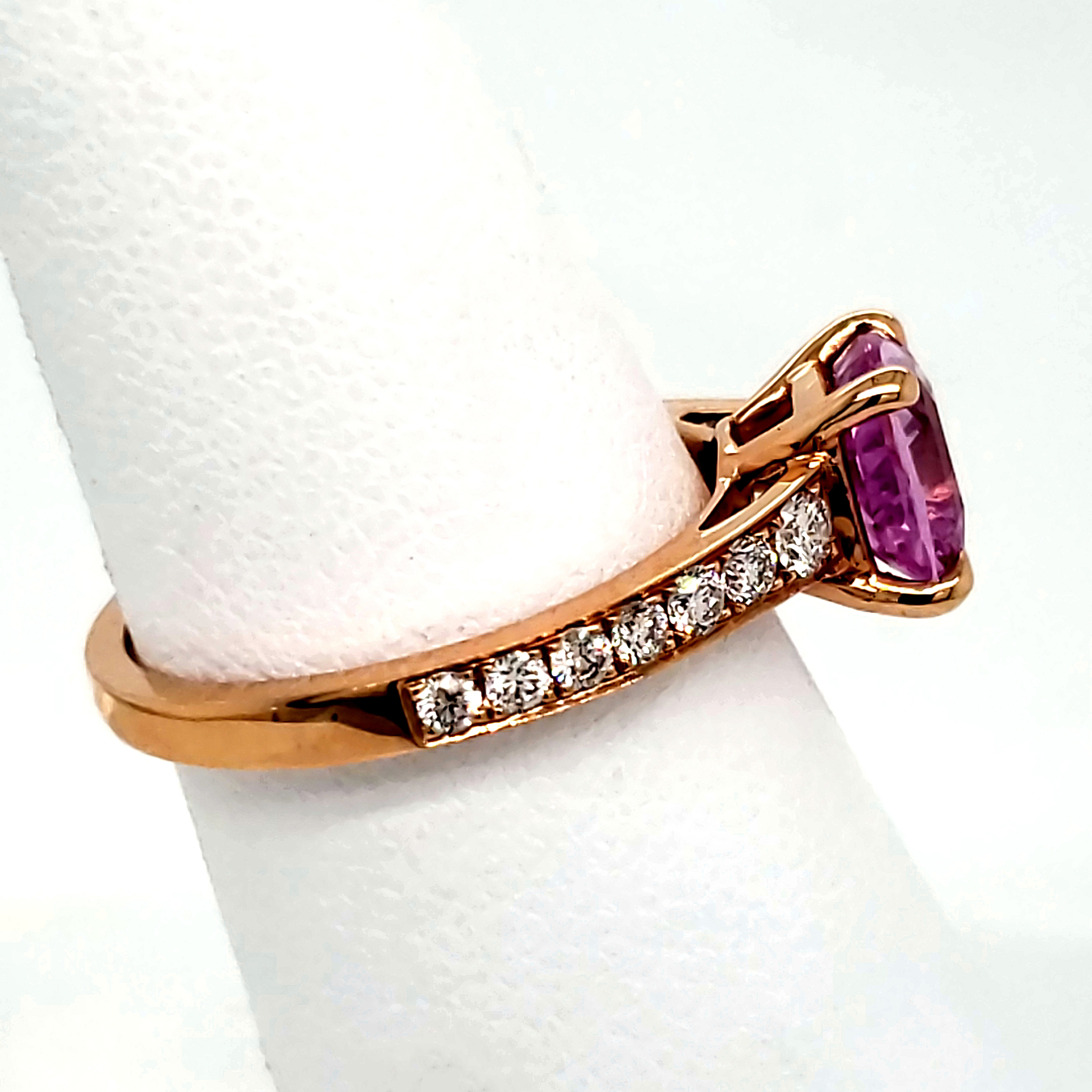 2.13 ct. Pink Sapphire Ring Front