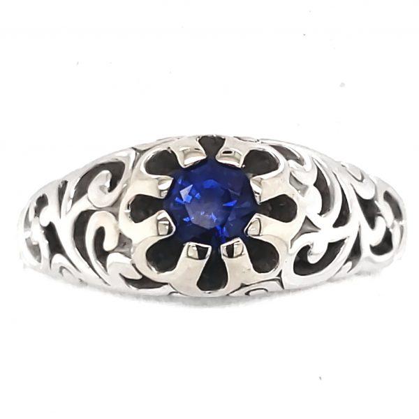 .40 ct. Blue Sapphire 14k wg Ring