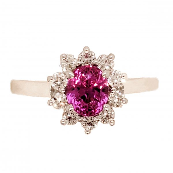 Hot Pink Ruby Ring