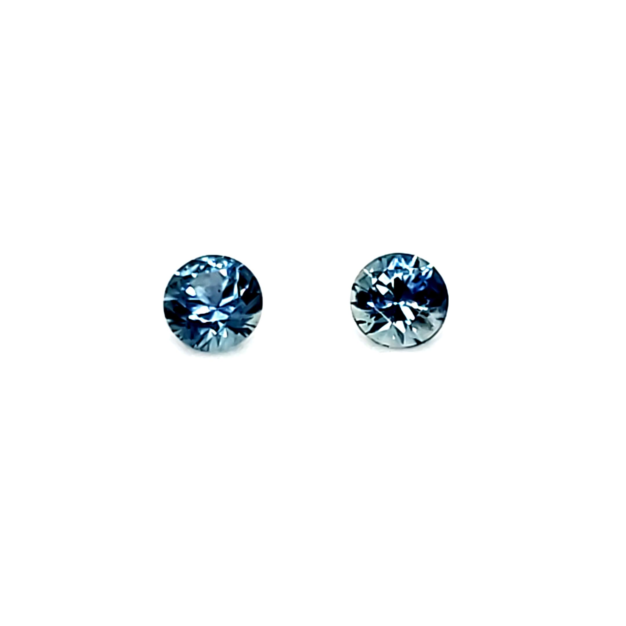 .68 tcw Montana Blue Sapphire Pair