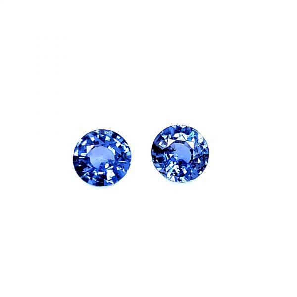 1.17 tcw. Blue Sapphire Pair