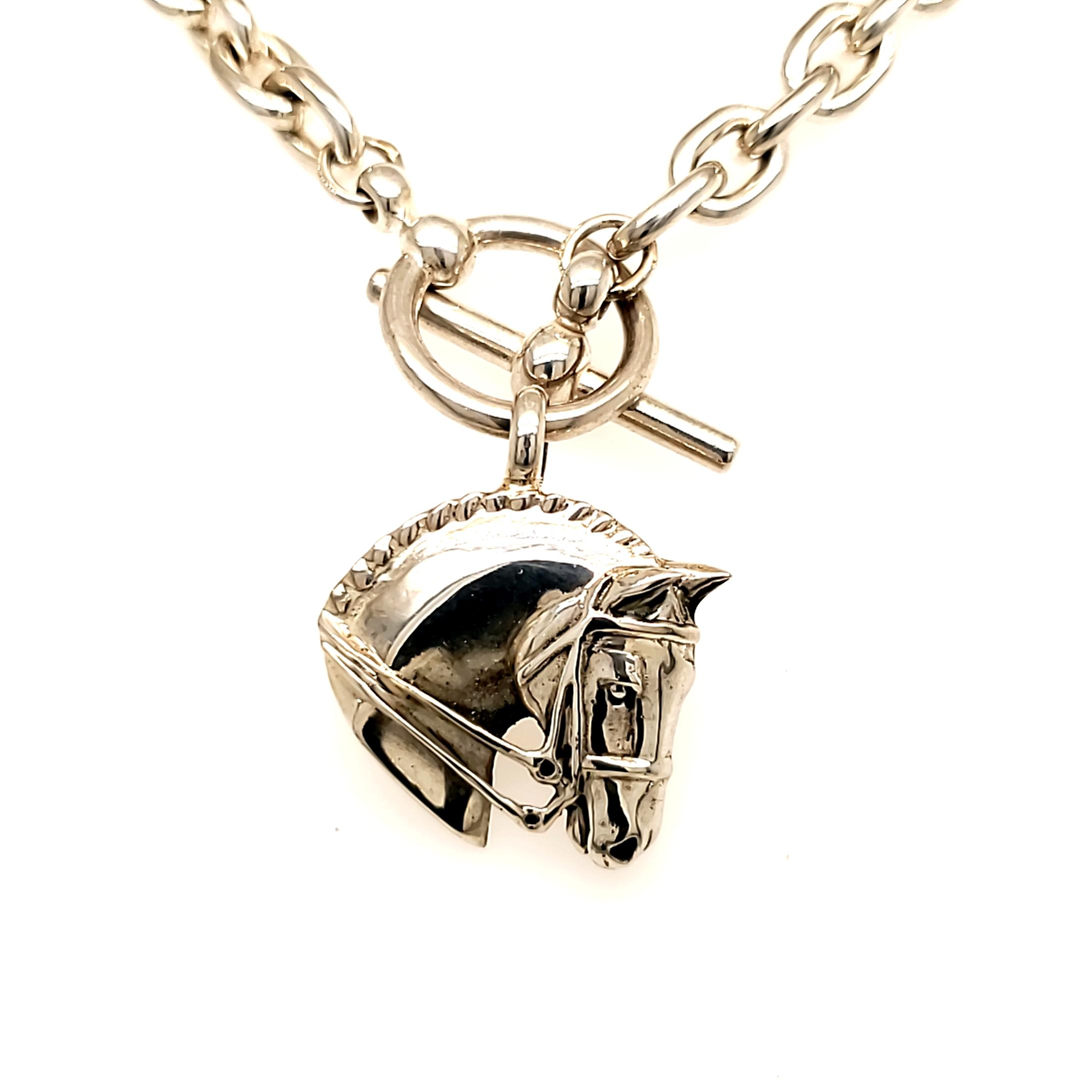 Jane Heart Dressage Horse Necklace