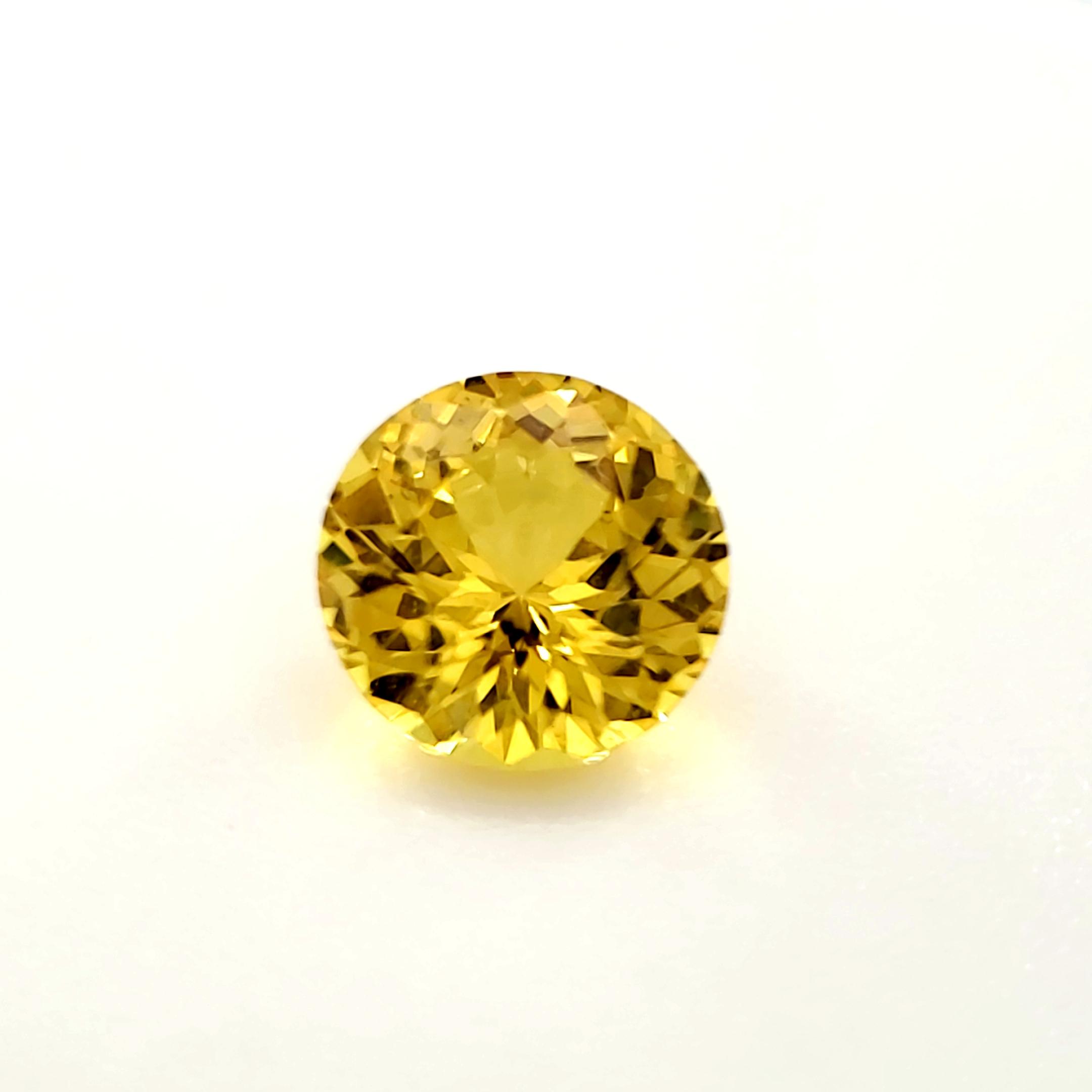 1.07 ct. Yellow Sapphire