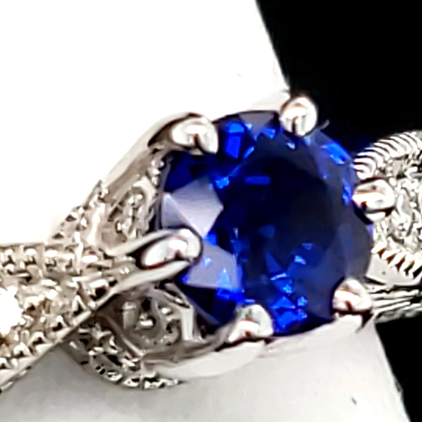 .62 ct. Blue Sapphire 14k wg RIng