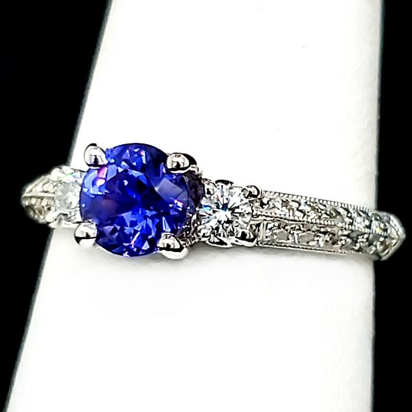 .79 ct. Color Change Sapphire 18k wg Ring