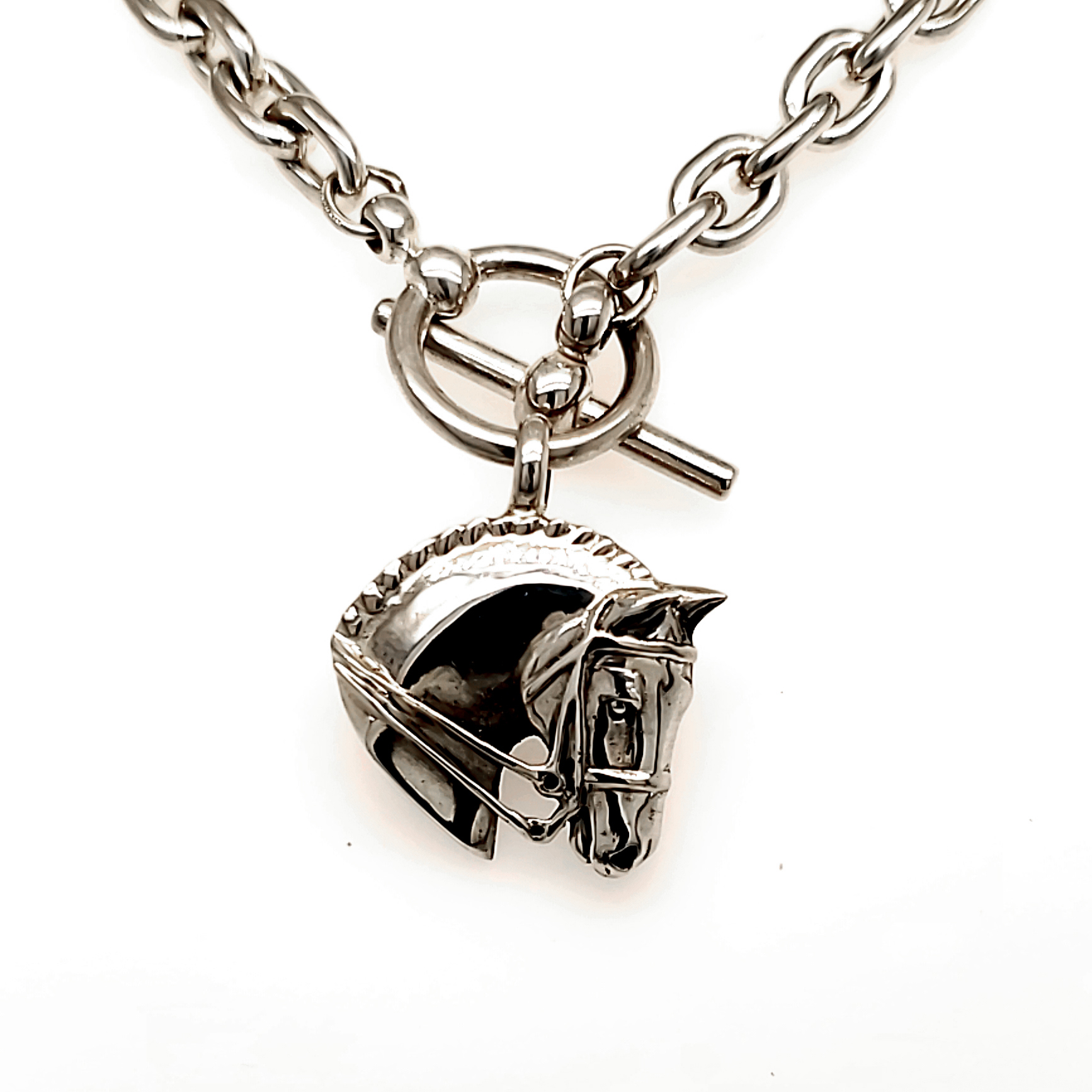 Jane Heart Dressage Horse Necklace