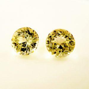 1.69 tcw. Yellow Sapphire Pair