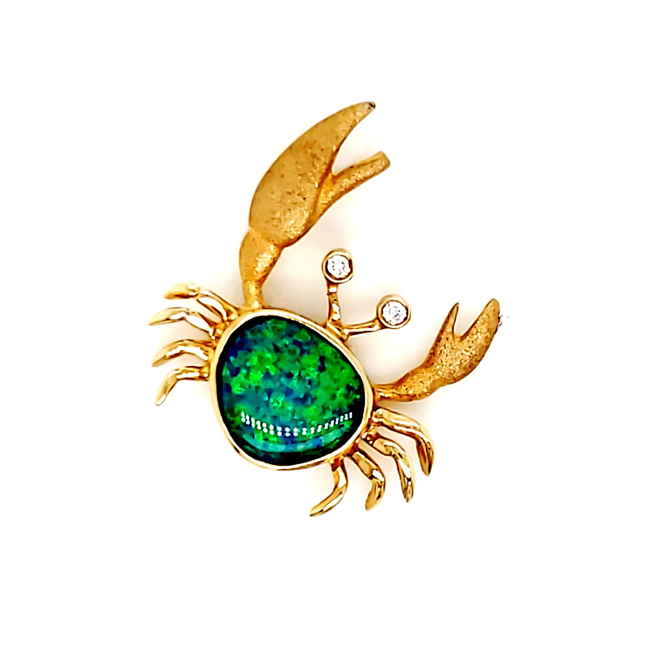 Denny Wong Opal Crab Pendant
