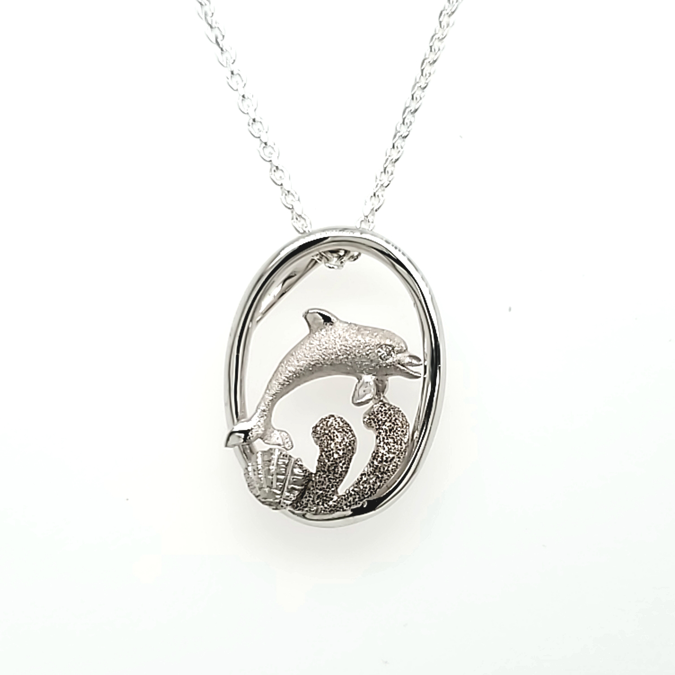 Precious Silver Dolphin Pendant