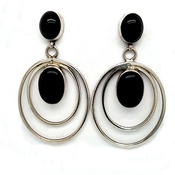 Sterling Onyx Earrings
