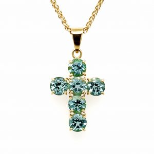 Green Tourmaline Cross