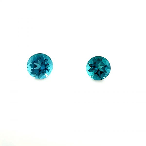 2.04 ct. Indicolite Tourmaline Pair