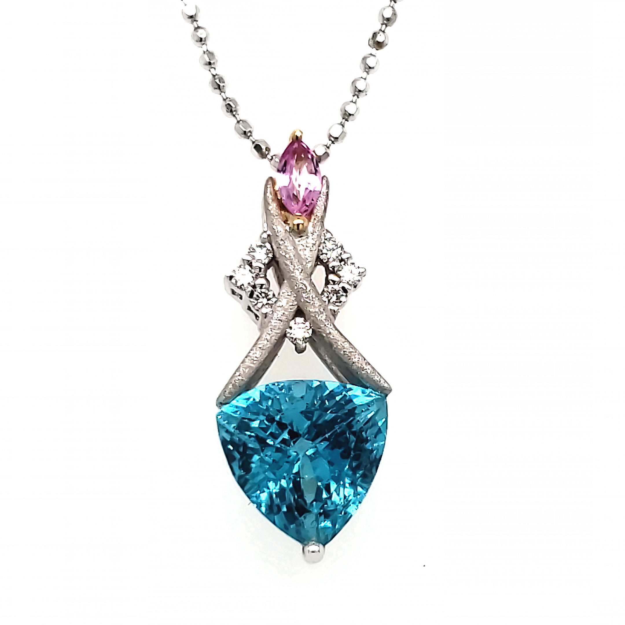 Denny Wong Apatite and Pink Sapphire Pendant