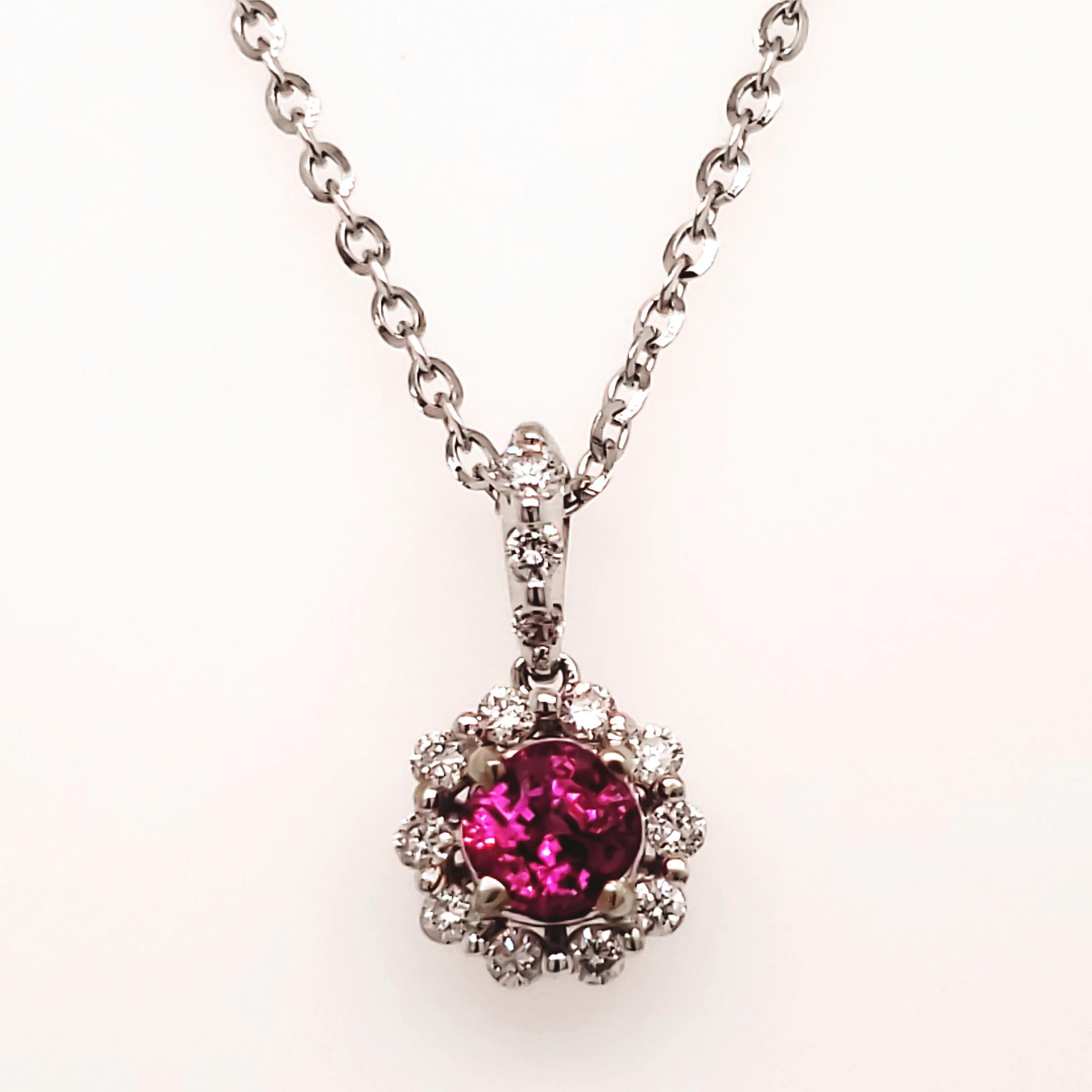 .85 ct. Ruby and Diamond Pendant