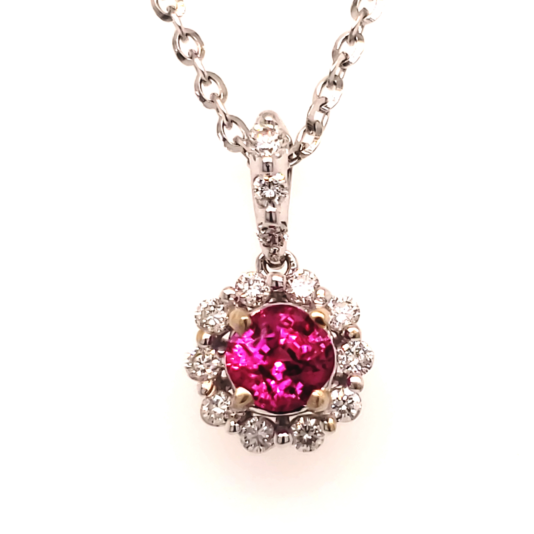 .85 ct. Ruby and Diamond Pendant