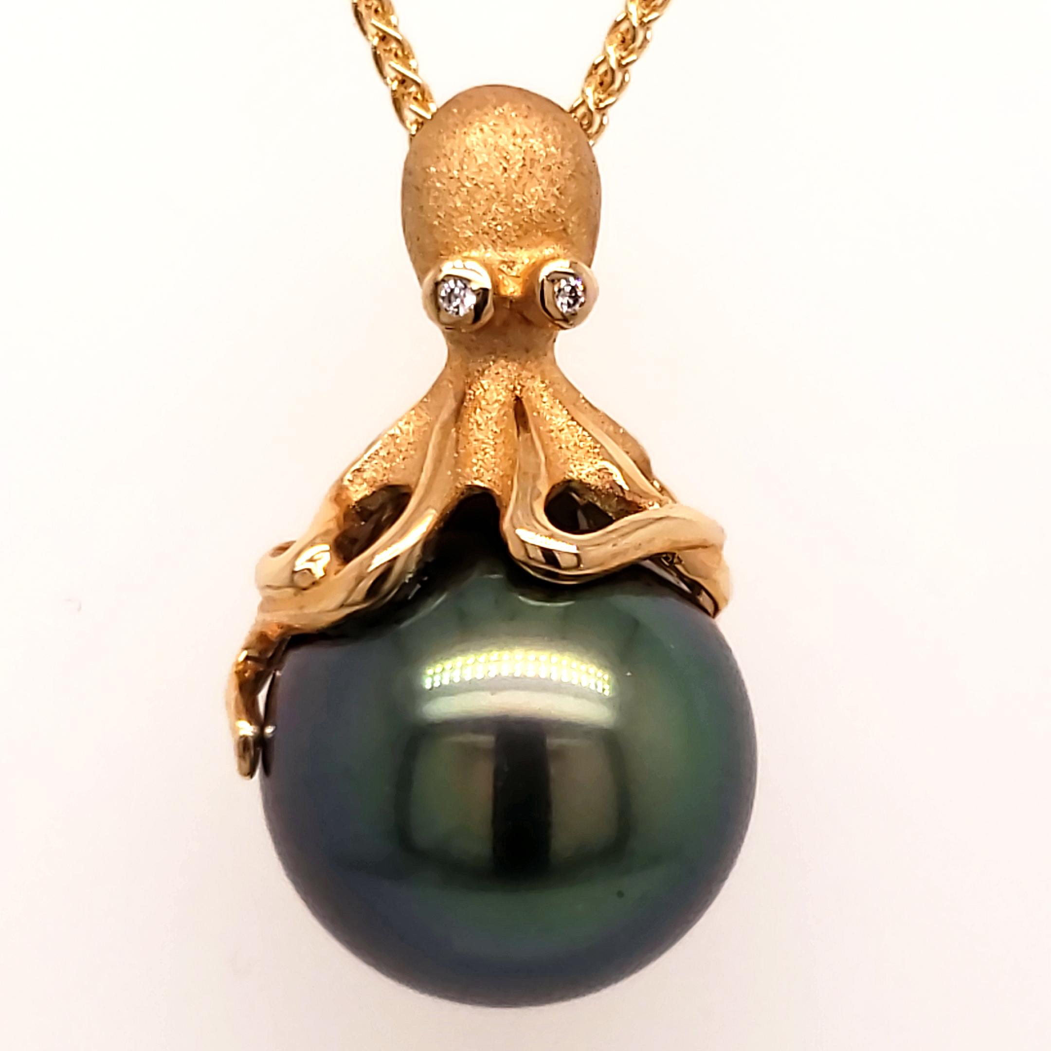 Denny Wong Tahitian Pearl Octopus Pendant